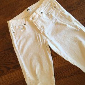 Paige Denim Verdugo Ankle white pants